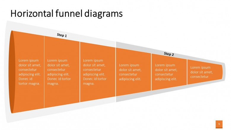 Simple Horizontal Funnel Graphic