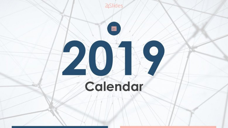 2019 Calendar welcome slide in corporate style