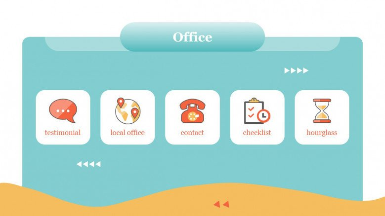 Office Icons for Webinar Presentations
