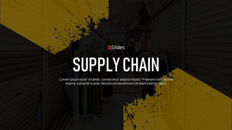 Title Slide for a Supply Chain Presentation