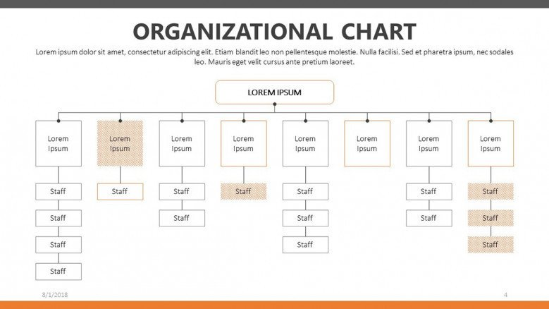 hierarchical organizational chart presentation slide