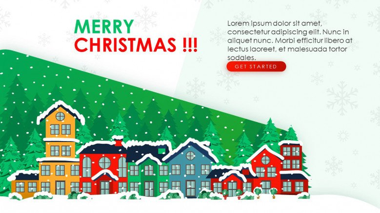 Text Slide for a Christmas themed presentation