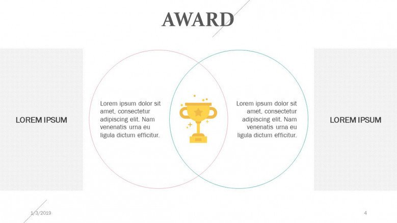 circle venn diagram for award presenting