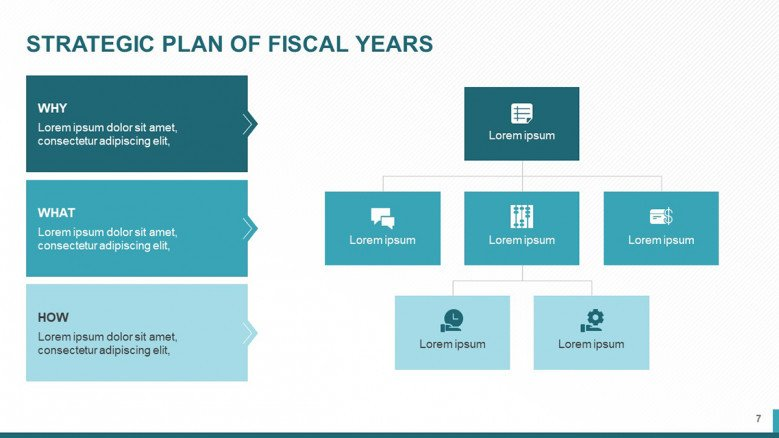 Fiscal Years Slide for Business Strategy Plan