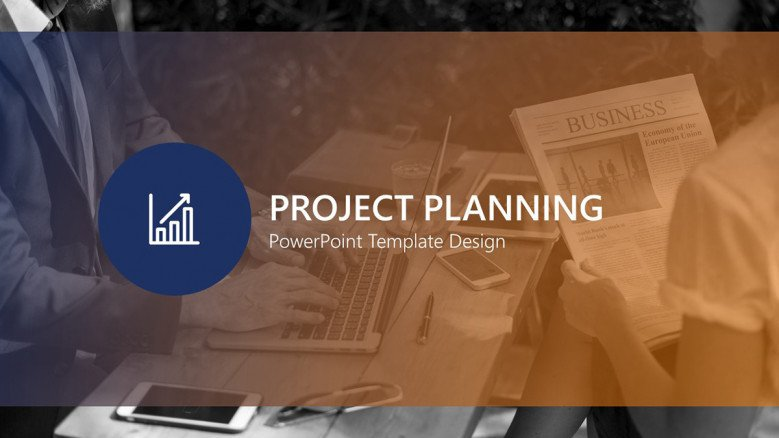 project planning welcome slide in creative style