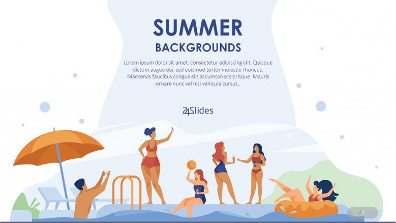 Pool Party PowerPoint Background