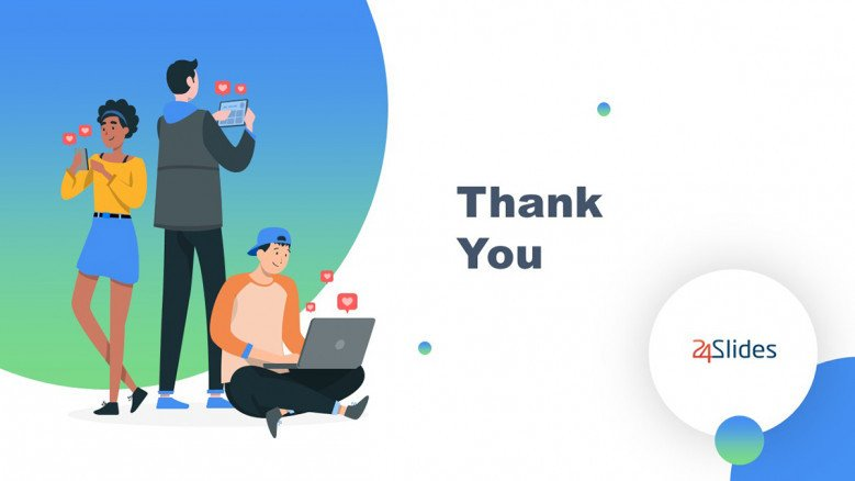 Thank You Slide in playful style