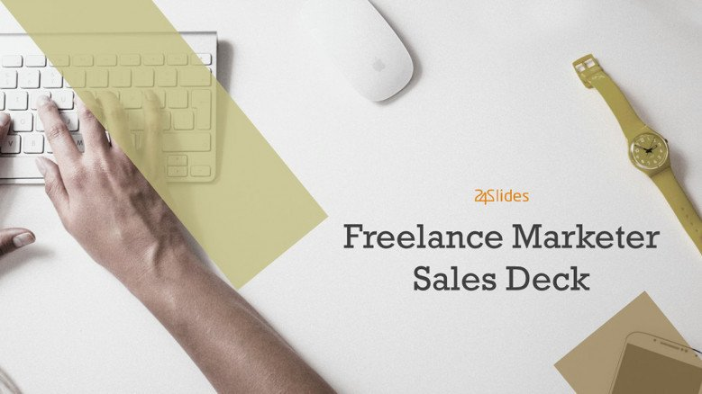 welcome slide for freelance marketer sales deck