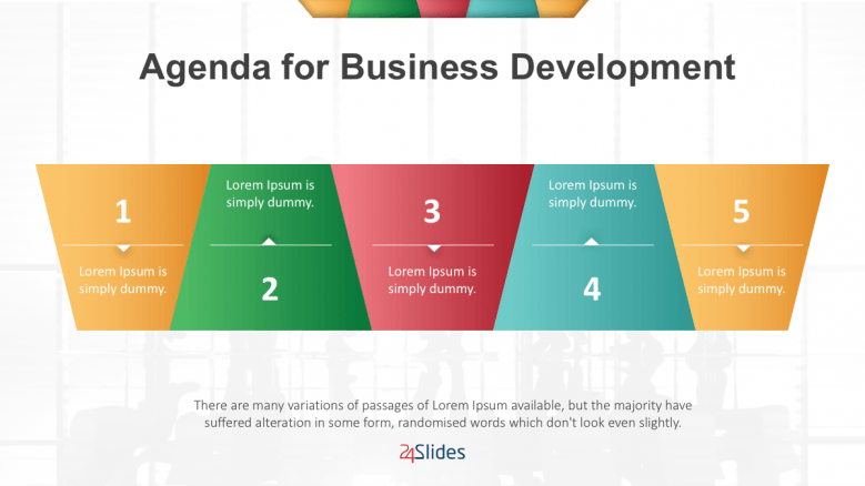 coloured slide for business development