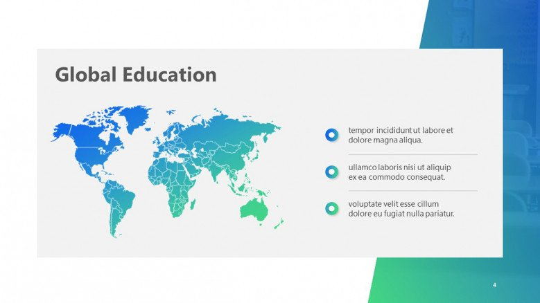 Colorful education world map