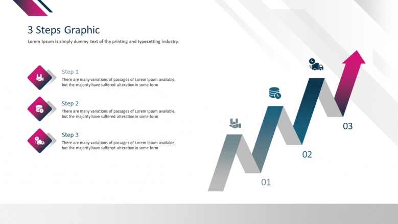 corporate presentation in three stage graphic