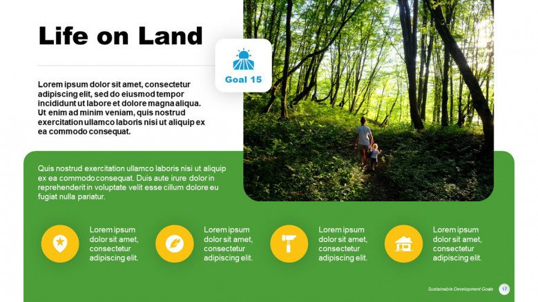 Life on Land Goal from the SDGs in PowerPoint