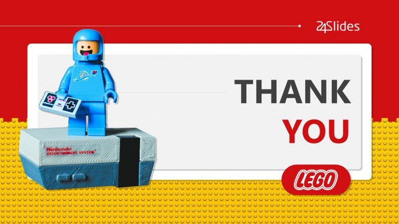 Thank You Slide with lego figure