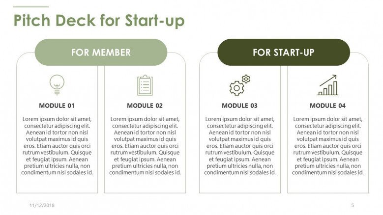pitch deck for start up business plan