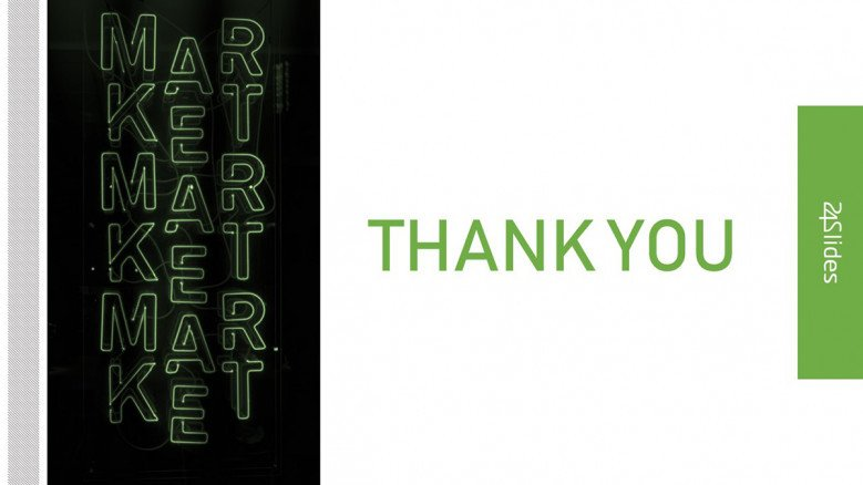 Creative Thank You Slide for a Go To Market Strategy