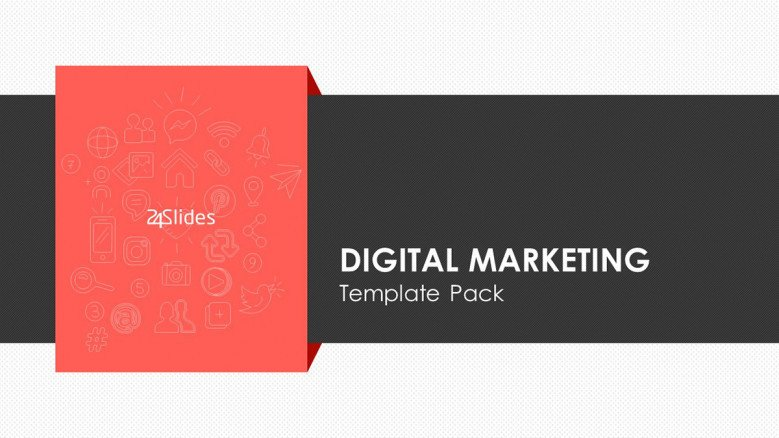 Welcome slide for digital marketing presentation