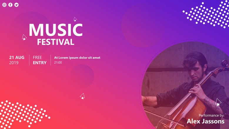 Advertising flyer for a music festival in creative style
