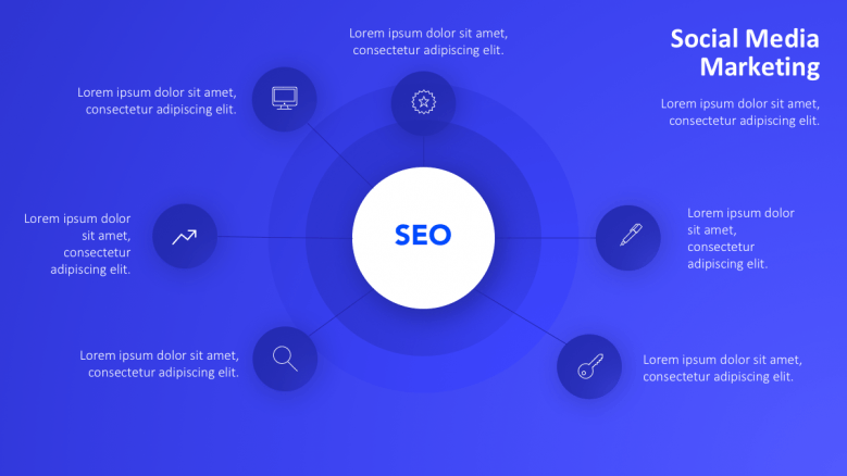 seo and 6 icon points