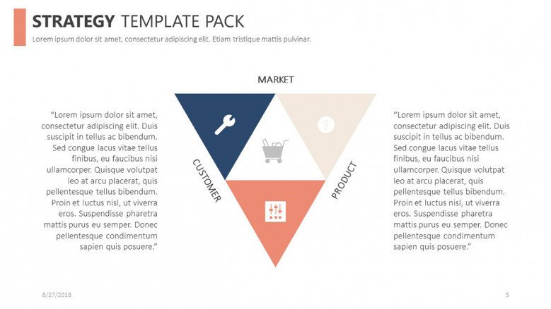 strategy free powerpoint template pack