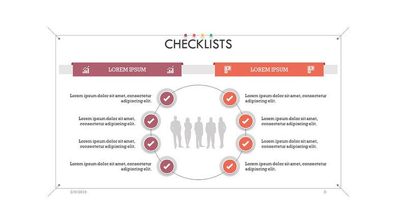 checklist in cycle chart