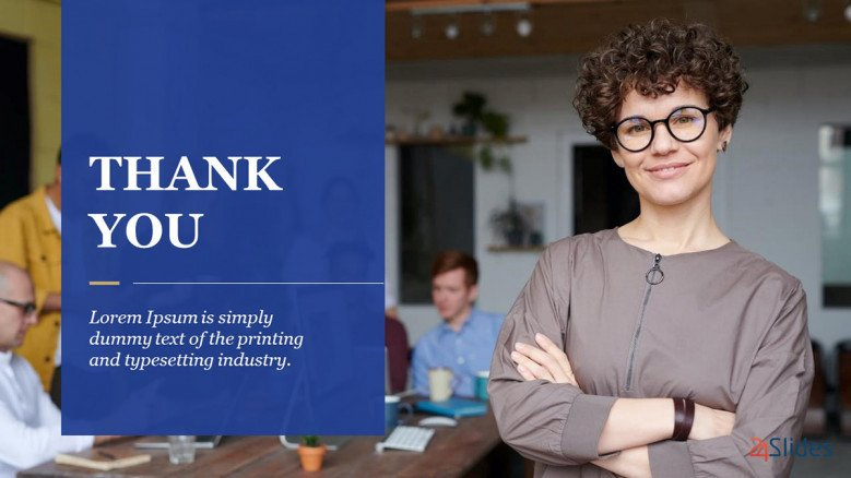 Blue Corporate Thank You Slide