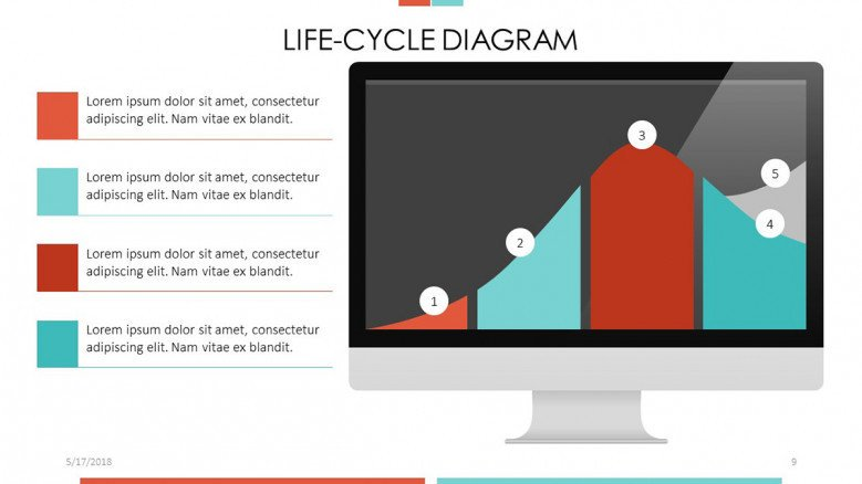 Life-cycle Diagram in line chart with brief explanations