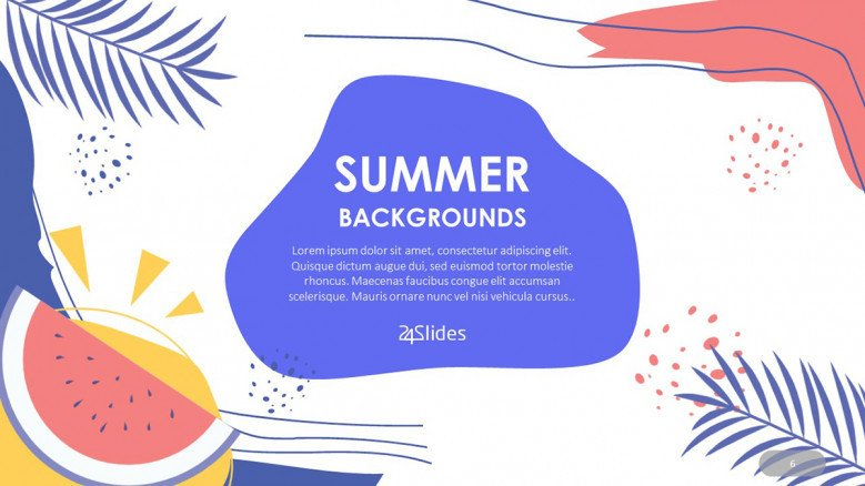 Tropical Summer PowerPoint Background