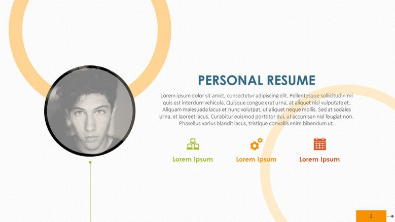 creative personal resume in paragraph with picture