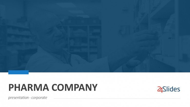 Pharma Company PowerPoint Template in corporate style