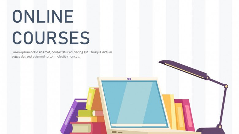Online Course PowerPoint Template in playful style