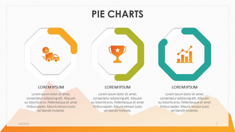 playful compared pie chart with illustration and data driven information text