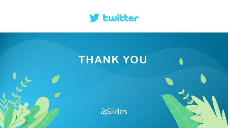 Playful Thank You Slide for a Twitter Campaign Presentation