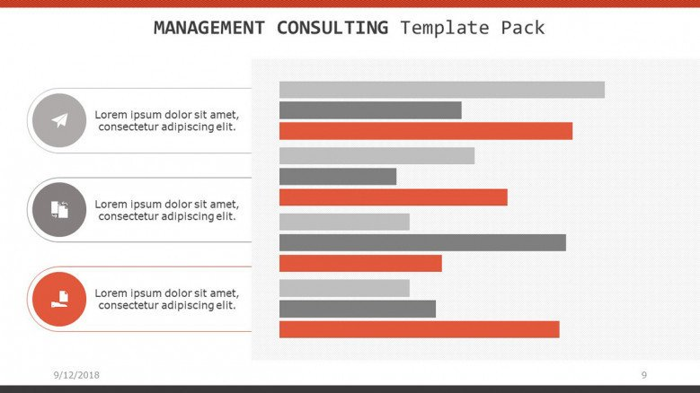 management consulting slide in horizontal bar chart