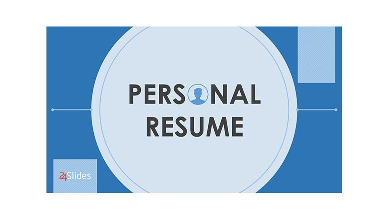 personal resume welcome slide in corporate style