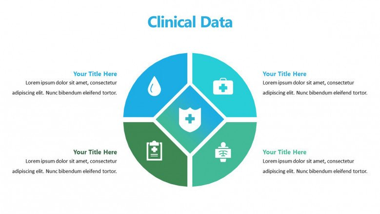 Circular Diagram in PowerPoint to present a clinical treatment
