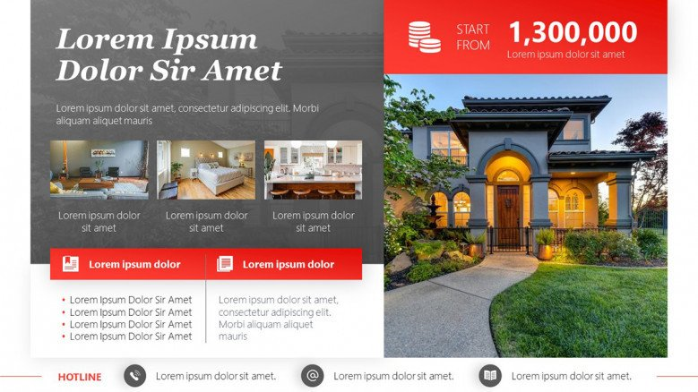 Luxury Home for Sale Flyer in PowerPoint