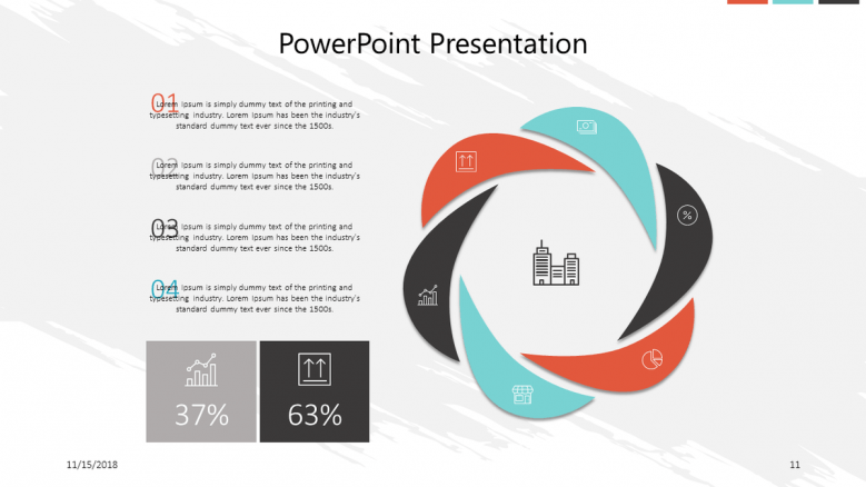 corporate presentation in cycle chart