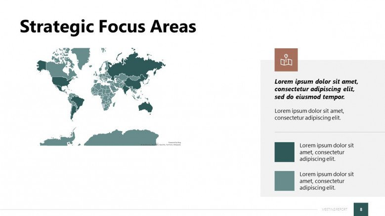Focus Areas Slide with a Global Map