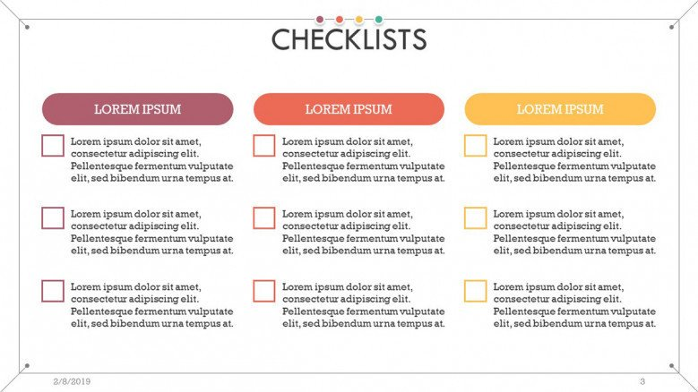 checklist presentation in tick box list