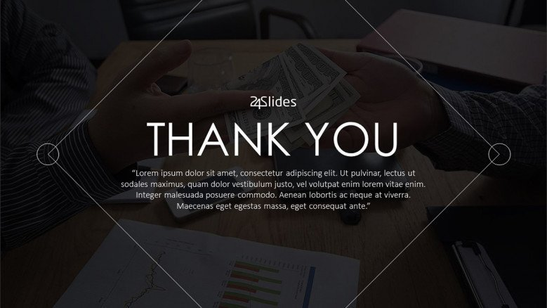 professional corporate themed thank you slide