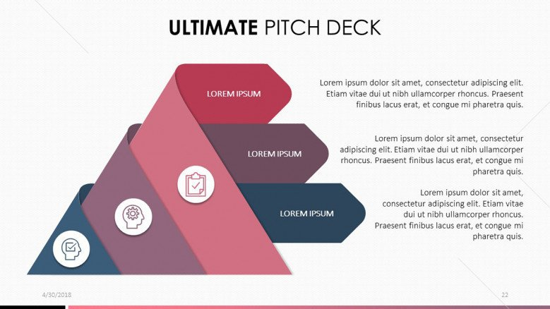 pitch deck in funnel chart