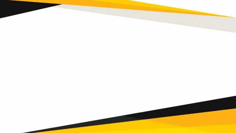 presentation background in plain white with yellow and black edge