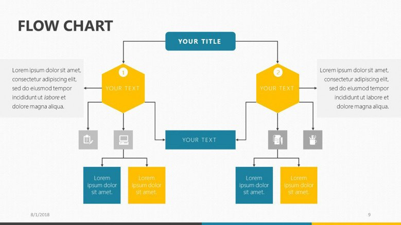 flow chart free powerpoint template PowerPoint Process Flow Templates process flowchart presentation slide