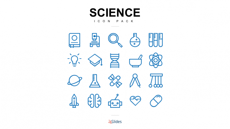 science icon template pack free powerpoint templates