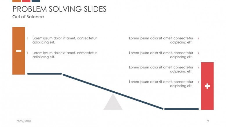 problem solving slide in scale char with positive and negative points