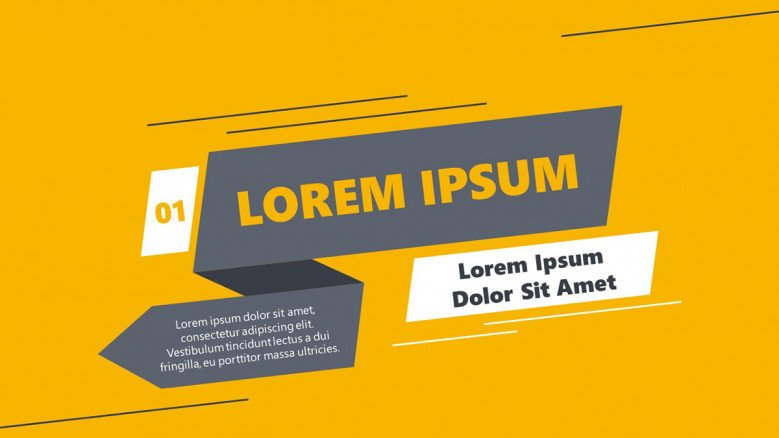 Title in a ribbon banner with bright background