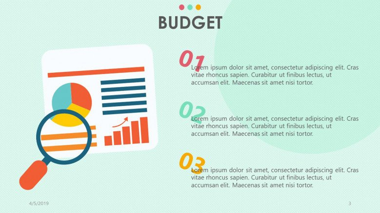 three key aspects of budget presentation with text