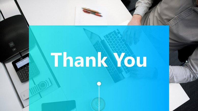 Creative thank you slide for technology presentations