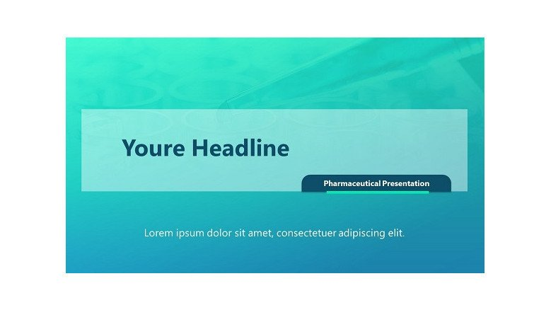 pharmaceutical welcome slide in creative blue style