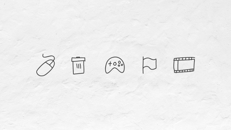 Doodle icons for everyday objects